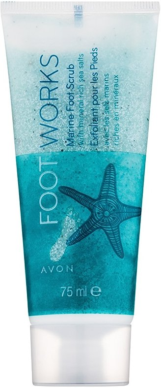 Avon Foot Works Healthy peeling na nohy  75 ml