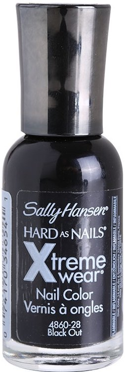 Sally Hansen Hard As Nails Xtreme Wear zpevňující lak na nehty odstín 370 Black Out 11,8 ml