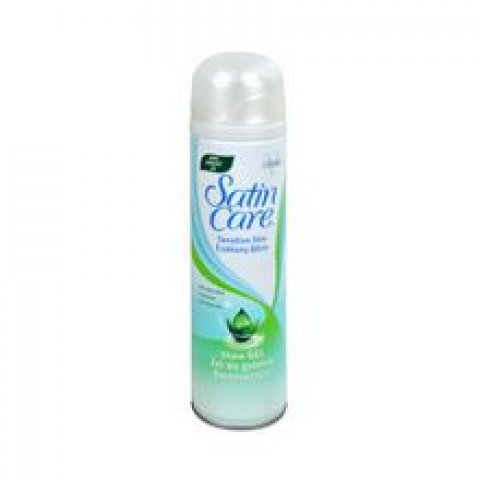 Satin Care Aloe Vera Shave Gel ( suchá pleť ) - Gel na holení 200 ml