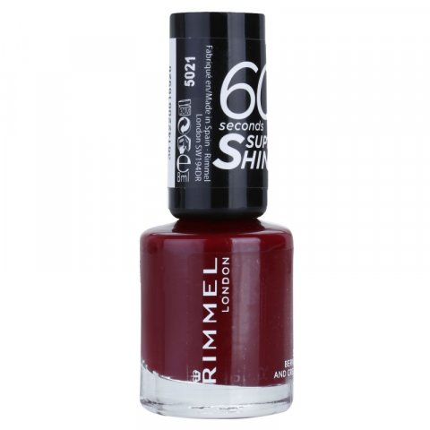 Rimmel 60 Seconds Super Shine lak na nehty odstín 340 Berries And Cream 8 ml