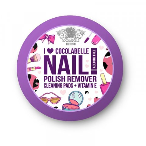 Cocolabelle Fruit Scented & Fabulous Nails odlakovací tampony I ♥ Cocolabelle (Acetone and Parabens Free, Vitamin E) 50 Ks