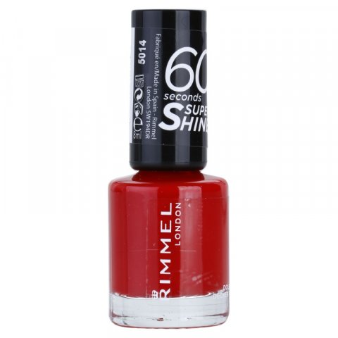 Rimmel 60 Seconds Super Shine lak na nehty odstín 310 Double Decker Red 8 ml