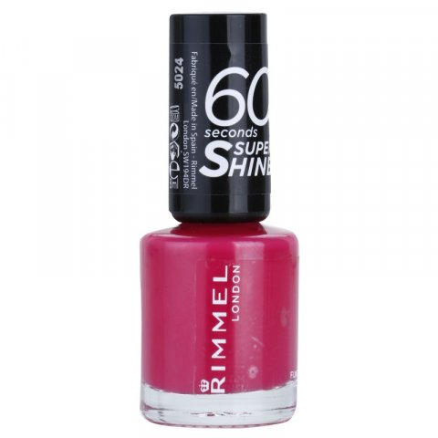 Rimmel 60 Seconds Super Shine lak na nehty odstín 323 Funtime Fuchsia 8 ml