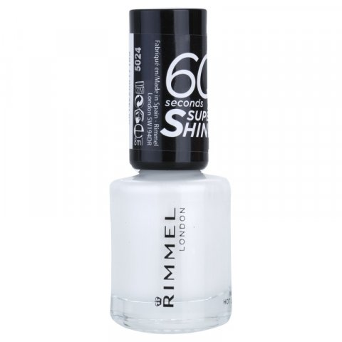 Rimmel 60 Seconds Super Shine lak na nehty odstín 703 White Hot Love 8 ml