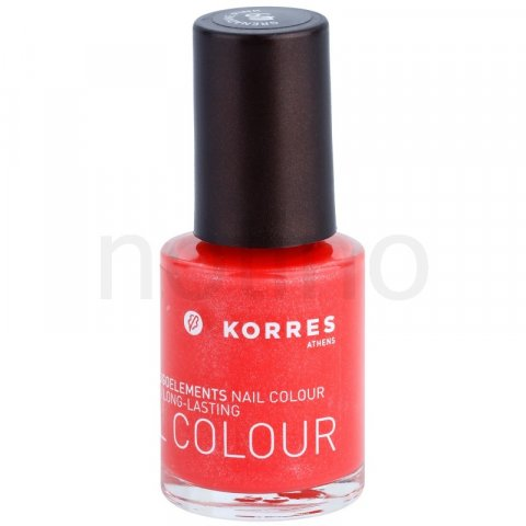 Korres Decorative Care Nail Colour lak na nehty odstín 49 Metallic Grenadine (Myrrh & Oligoelements) 10 ml