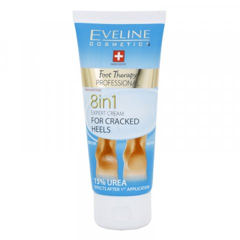 Eveline Cosmetics Foot Therapy krém na rozpraskané paty 8 v 1  100 ml